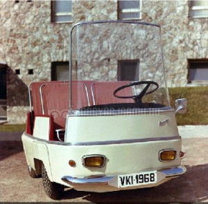 A plastic bodied electric city car prototype, named Tiny caused a media frenzy in 1968