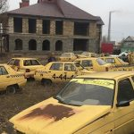 Photos on several Abandoned ZAZ Slavuta Taxis Make the Social Media Rounds