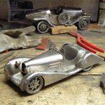 "Jiří ""Kladivko"" Rožnovský's artistic sculptures of classic cars"